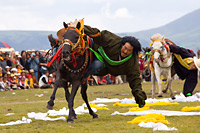 Horse racing in Litang